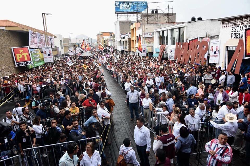 Simpatizantes de López Obrador