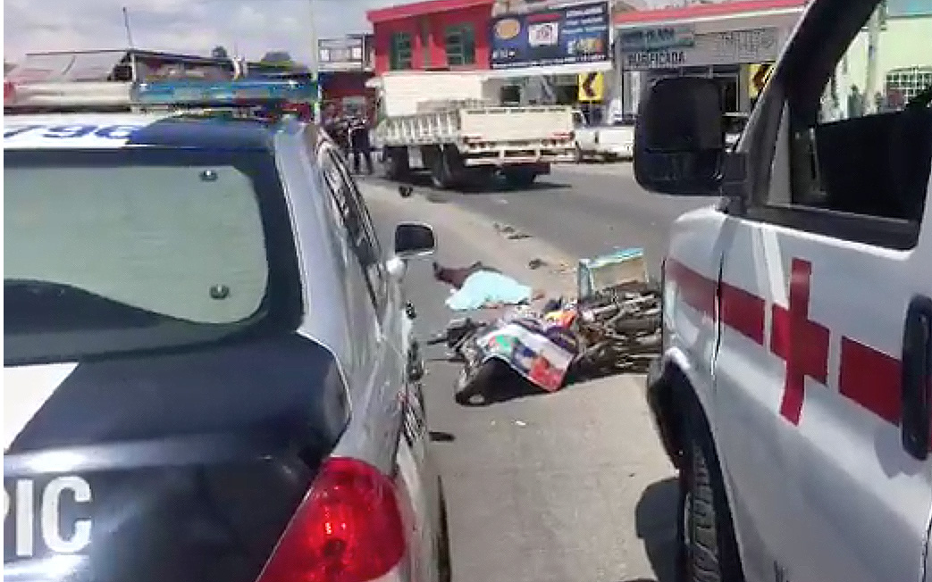 Autoridades presentes en accidente fatal