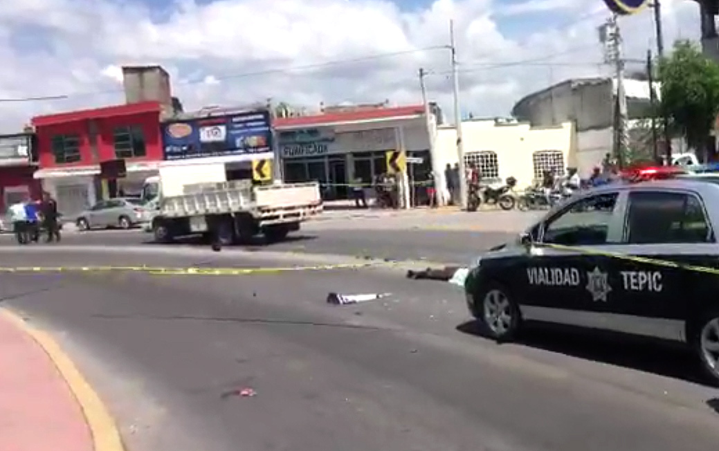 Escena accidente motociclista