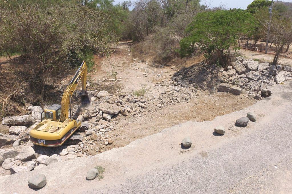 Obras en la sierra de Bahía de Banderas